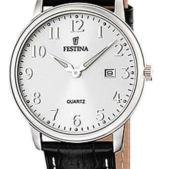 Festina - F16516 2 - Montre Homme - Quartz Analogique - Bracelet Cuir Noir  - weesdfgbv a38e2cb44e6a
