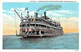"""New Orleans Louisiana """"Capitol"""" inclination boat passengers antique pc Y9205"""