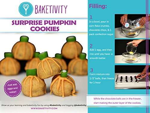 Baketivity Surprise Pumpkin Cookies - Baking Kit (Sugar Free Cream Cheese Frosting compare prices)
