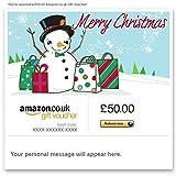 Shopping Snowman - E-mail Amazon.co.uk Gift Voucher