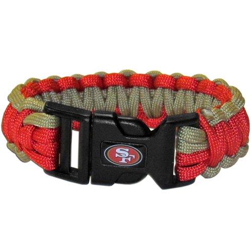 San Francisco 49Ers Nfl Survival Paracord Bracelet Large Authentic Football Team