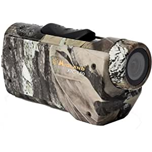 Midland XTC-150VP2 480p SD Action Wearable Video Camera with Bow, Tree, Visor and Handlebar Mounts - Camo