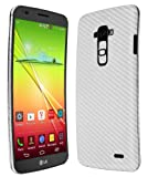 Skinomi® TechSkin - LG G Flex Screen Protector Ultra Clear Shield + Silver Carbon Fiber Full Body Protective Skin + Lifetime Warranty