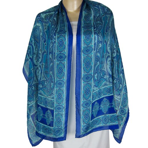Women Fashion Clothes Gifts For Women Scarves For Women SilkPrinted RectangularClothing From India 55 cm x 182 cm