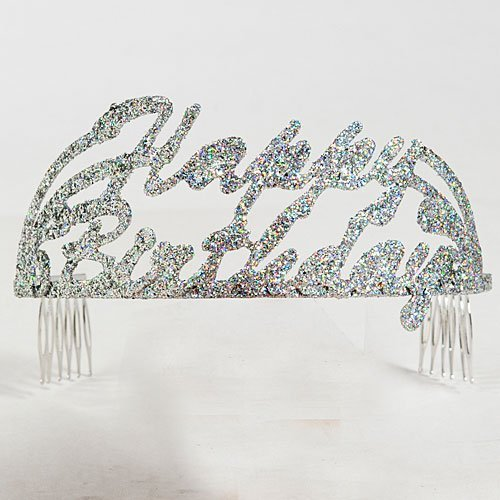 Happy Birthday Script Glitter Tiara by Shindigz