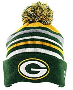 Mens Green Bay Packers Stripe Out Knit Cap - OSFM by New Era