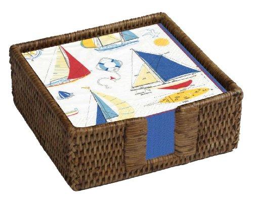 Nautical paper napkins paper napkins cool napkin folding - Coastal napkin holder ...