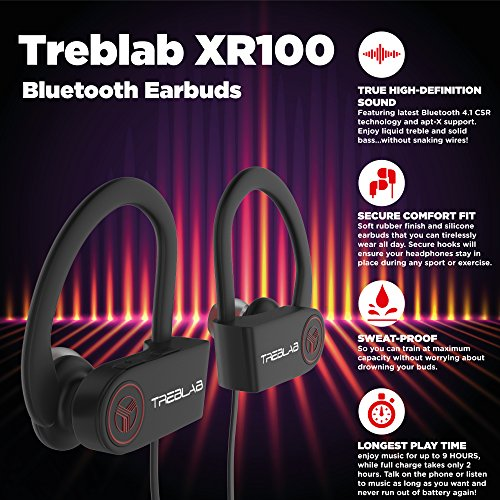 TREBLAB XR100 Bluetooth Noise Cancelling Earbuds