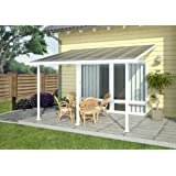 Hochwertige Aluminium Terrassenüberdachung, Terrassendach 300x1092 cm (TxB) - weiß