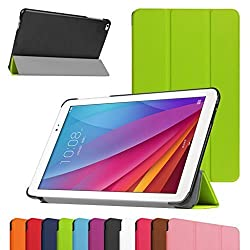 Huawei MediaPad T1 10 Slim Shell Case,Mama Mouth Ultra Slim Lightweight 3-folding PU Leather Standing Cover For 9.6