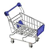Tenflyer Mini carretilla de mano compras utilidad cesta modo de almacenamiento (Azul)