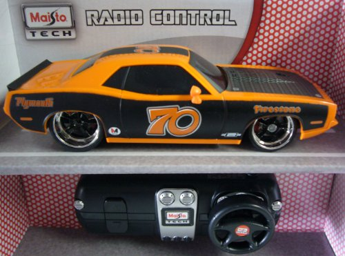 Maisto 1:24 Scale Orange and Black 1970 Plymouth HEMI Cuda Remote Control Car