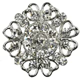 Maaria B's Accessories Silver Brooch Diamante Broach Vintage Shoe Cake Decoration Pin Bridal