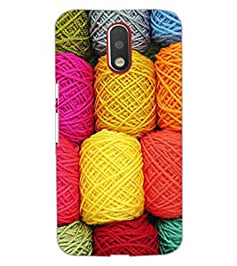 PrintDhaba COLORFUL WOOL D-6584 Back Case Cover for MOTOROLA MOTO G4 (Multi-Coloured)