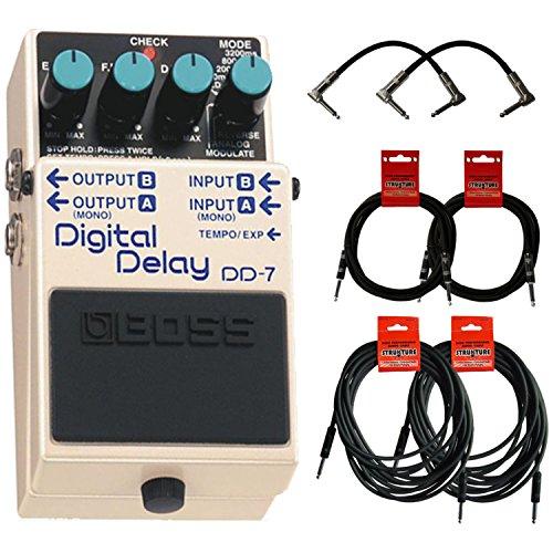 Boss DD-7 Digital Delay DD7 w/6 Cables (Boss Digital Reverb compare prices)