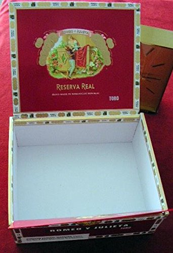 Cigar box, empty, paper covered wooden one 2