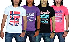 MaximBlue Men's White Purple Black Red T-Shirt