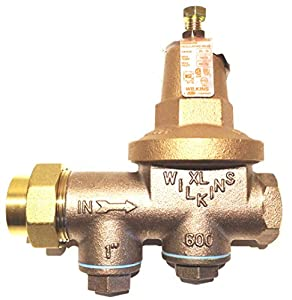zurn wilkins model 1 600xl 1 water pressure reducing brass valve with integral by pass check. Black Bedroom Furniture Sets. Home Design Ideas