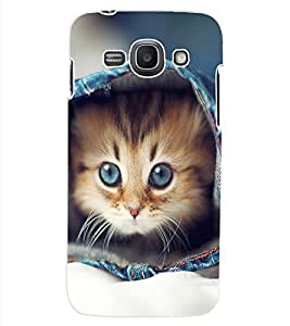 ColourCraft Funny and Cute Cat Design Back Case Cover for SAMSUNG GALAXY ACE 3 3G S7270