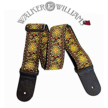 Walker & Williams H-03 Mandala Sun Woven 60's Style Hootenany Hippie Guitar Strap