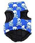 Various Pet Cat Dog Soft Padded Vest Harness Small dog clothes Blue Skull L by SMALLLEE_LUCKY_STORE