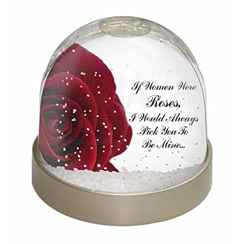 Roses-Wife Girlfriend Sentiment Snow Waterball Christmas Gift, Ref:LOVE-R4GL