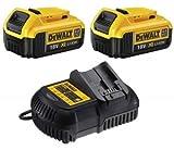 2 X Dewalt DCB182 18V XR li-ion Battery 4.0Ah + DCB105-XJ Battery Charger UK CE