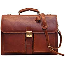 Floto Luggage Novella Briefcase, Brown, One Size