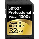 Lexar Professional 1000x 32GB SDHC UHS-II/U3 Card (Up to 150MB/s read) w/Image Rescue 5 Software LSD32GCRBNA1000