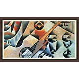 Banjo (guitar) And Glasses By Juan Gris - ArtsNyou Printed Paintings - B00QA185RI