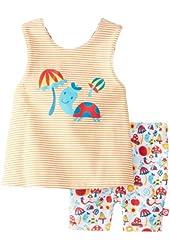 Zutano Baby Girls' Happy Day Sunshine Top and Bike Short Set