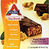 Atkins Day Break Bars Peanut Butter Fudge Crisp, 5 PK (4/Pack)
