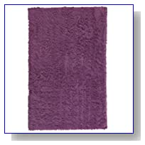 Faux Sheepskin Area Rug, 3'X5', Purple