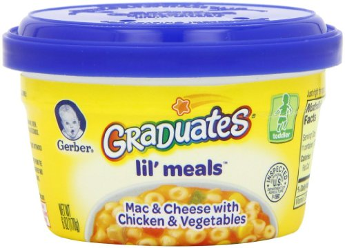 Baby / Child Gerber Graduates For Toddlers Lil' Meals 6-Oz Tubs (Pk Of 12) - Mac & Cheese W/ Chicken & Vegetables Infant