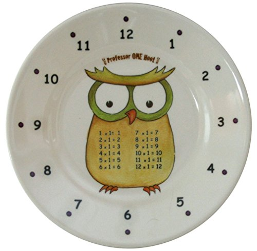 The Multiples Times Table Dinnerware Professor One Hoot 6.5 inch Melamine Plate