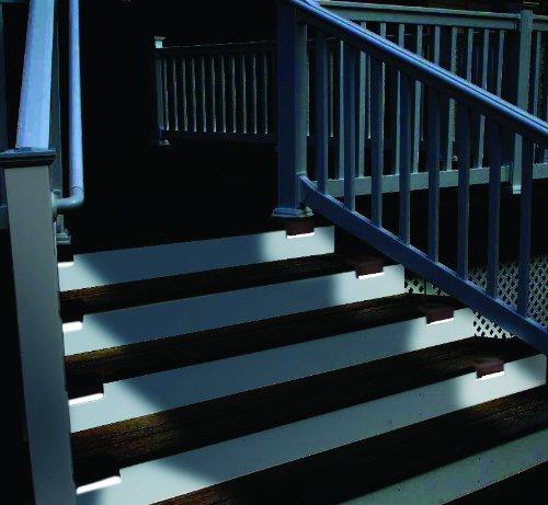 innovations 47332 brown solar led deck light pack of 4 new ebay. Black Bedroom Furniture Sets. Home Design Ideas