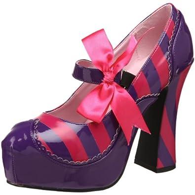 Funtasma by Pleaser Women's Kitty-32/PURHP Pump,Purple/Hot Pink Patent,6 M US