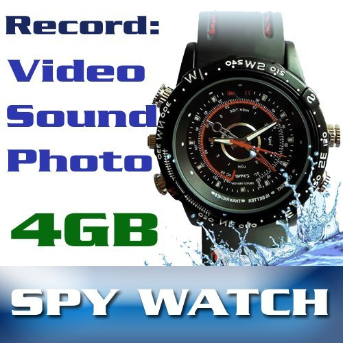 Sports Watch with Hidden Camera, Microphone and 4GB Storage