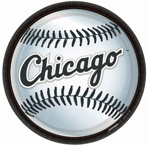 "9"" PLT MD CT CHICAGO WHT SOX - 1"