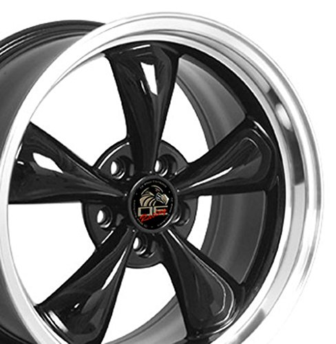 18x9 Wheel Fits Ford - Mustang Bullitt Style Black Rim (Mustang Saleen Wheels compare prices)