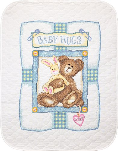 Dimensions Needlecrafts Stamped Cross Stitch By Kathryn White, Bunny 'N Bear Quilt front-878813
