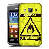 Head Case Designs Flammable Hazard Symbols Protective Snap-on Hard Back Case Cover for Samsung Galaxy Xcover S5690