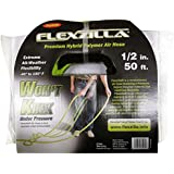 "Legacy Manufacturing HFZ1250YW3 Flexzilla 1/2"" x 50' Zillagreen Air Hose with 3/8"" MNPT Ends and Bend Restrictors"
