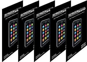 Desire 501 dual sim Screen protector, Scratch Guard No Rainbow Effect [Screenward] (Pack of 5) Screen Protector Scratch Guard For HTC Desire 501 dual sim
