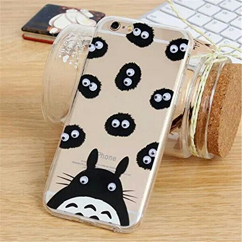 French Fries Popcorn Black Cat Banana Donuts Totoro Printing Googly Moving Eyes Acrylic PC Back with Soft TPU Edges Case Cover for Apple iPhone 5/5S(Totoro) (Iphone 5 Cases French Fries compare prices)