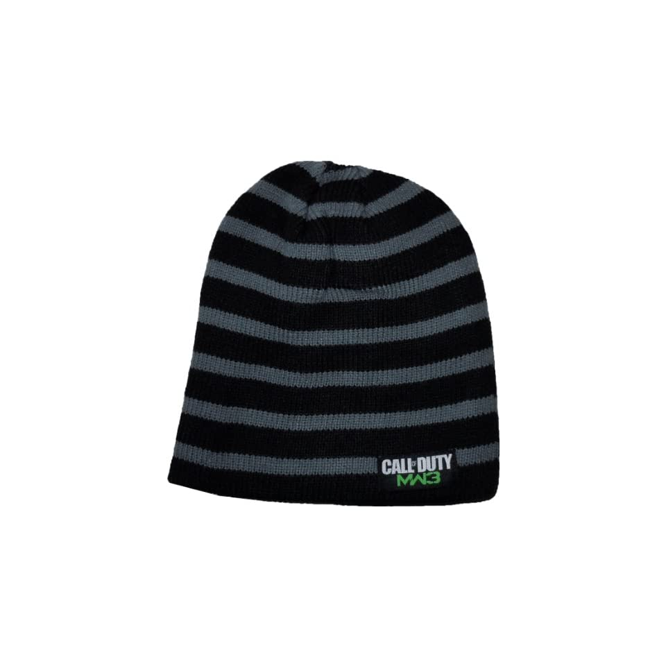 Call of Duty MW3 Black Billed Beanie Hat Licensed 84680 on PopScreen e2bab63134c