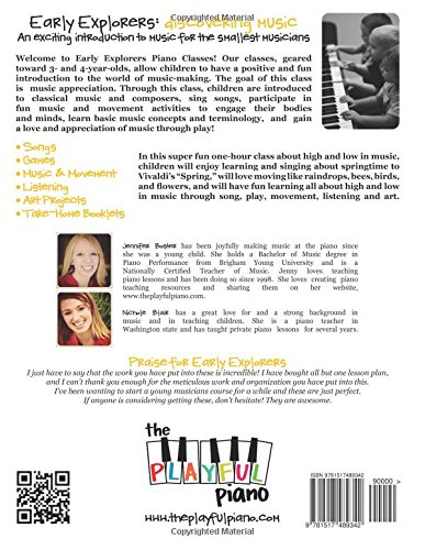 Spectacular Spring!: Early Explorers Preschool Piano Class: Volume 1 (Early Explorers: Discovering Music)