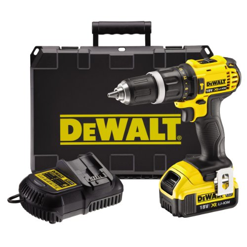 DeWalt-18V-XR-Lithium-Ion-2-Speed-Combi-Drill-with-1-x-4Ah-Battery