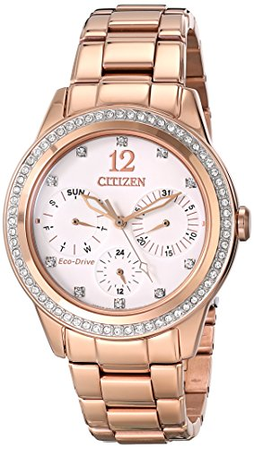 Citizen Eco-Drive Dress Stainless Steel - Rose-Gold Women's watch #FD2013-50A