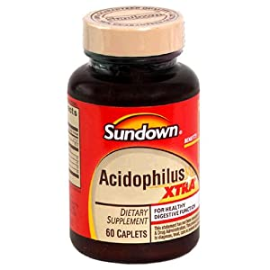 Sundown Naturals Acidophilus, Xtra, 60 Caplets